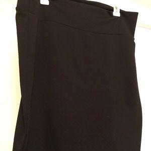 LuLaRoe Cassie Skirt -Solid Black 2XL